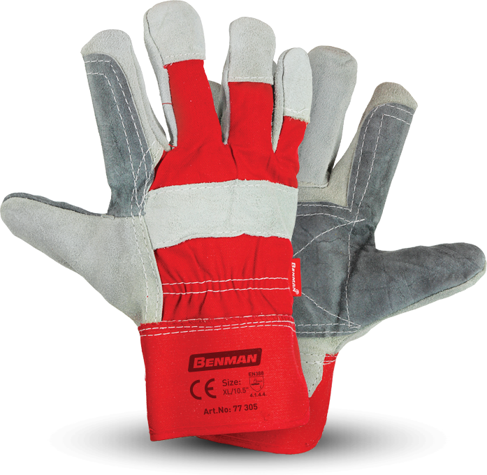 gloves benman red